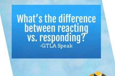 What's the difference between reacting vs. responding