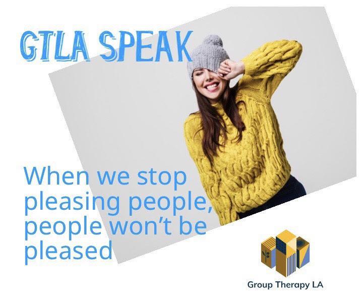 When we stop pleasing people, people won't be pleased