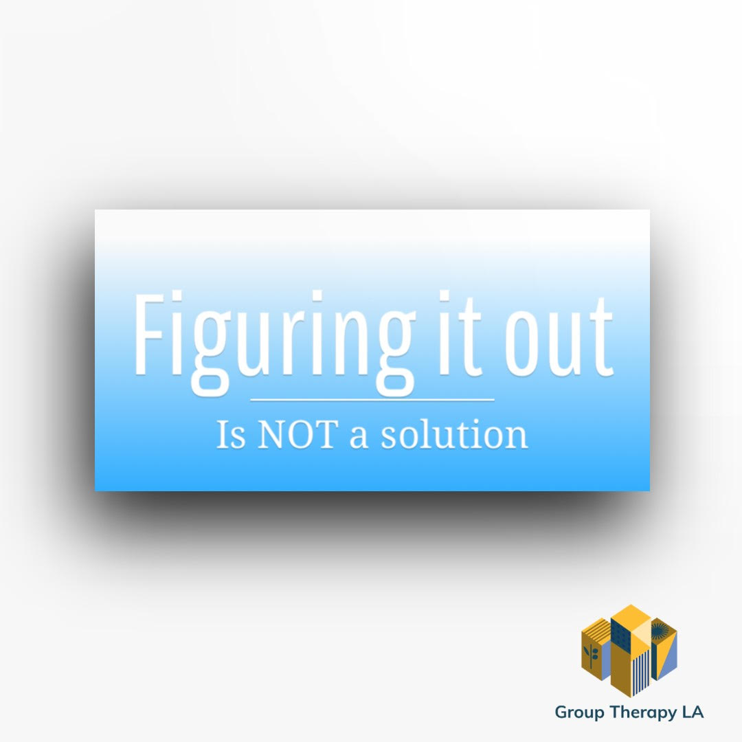 Figuring it out is NOT a solution