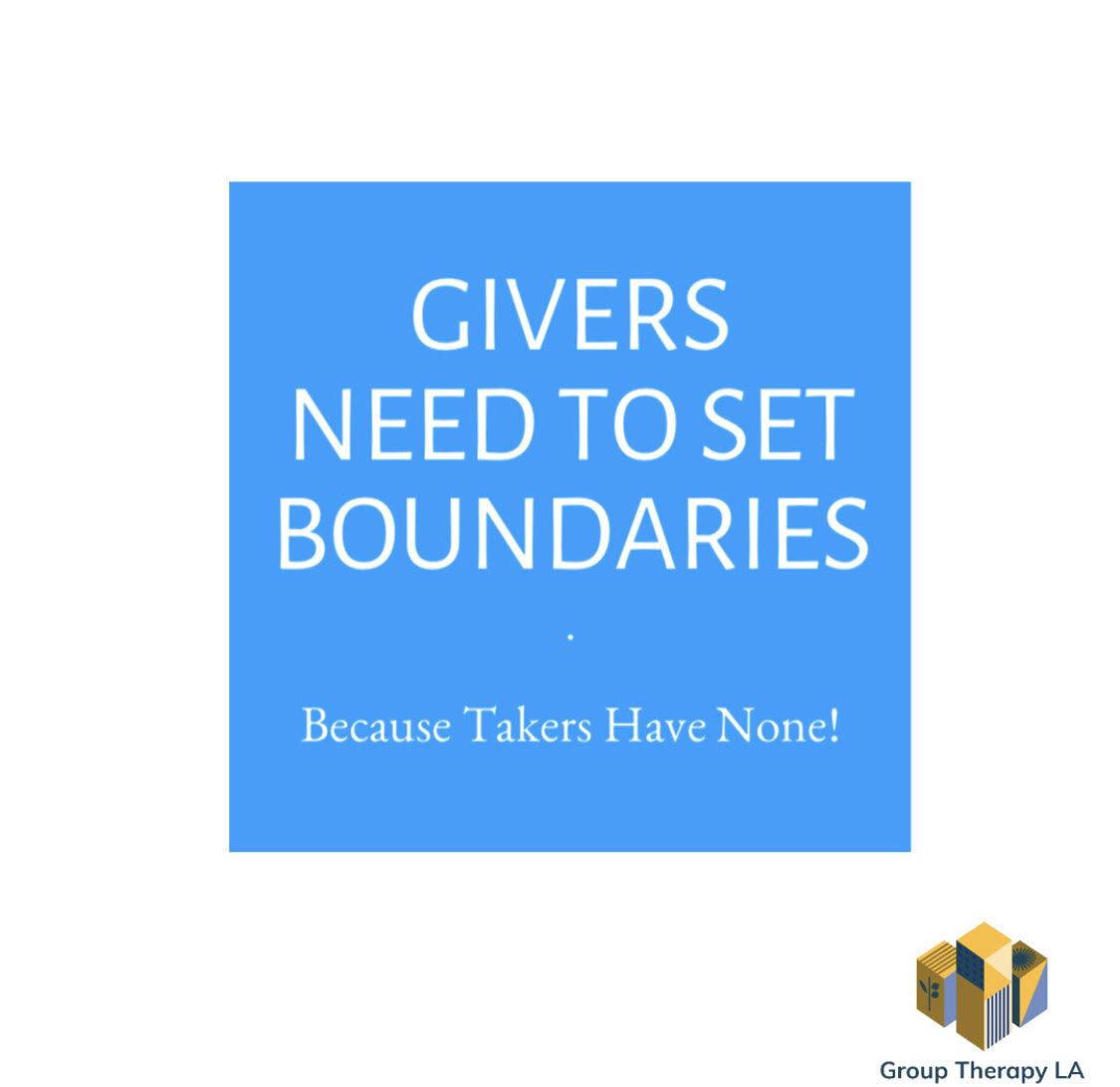 Givers Need to Set Boundaries…Because Takers Have None